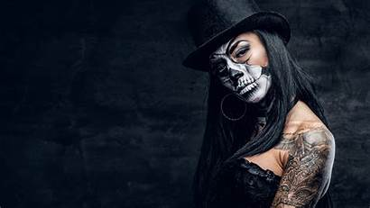 Wallpapers Dead Tattoo Female Hat Makeup 3840
