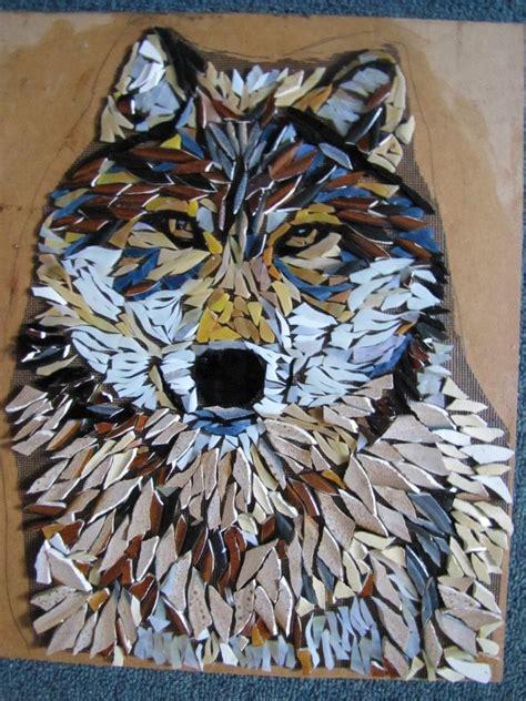 images  mosaic dogs  pinterest mosaics