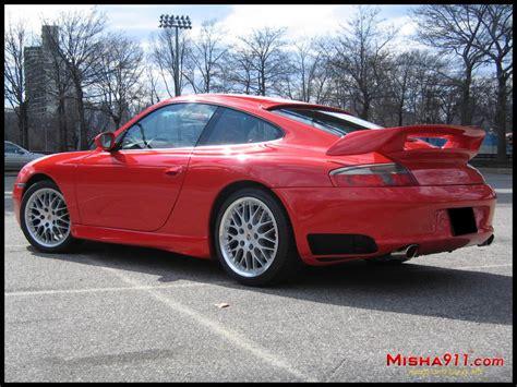 Misha Gt2m Wing On Red Porsche 996 C2