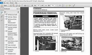 Evinrude E Tec 40hp 50hp 60hp 65hp Outboard Shop Manual