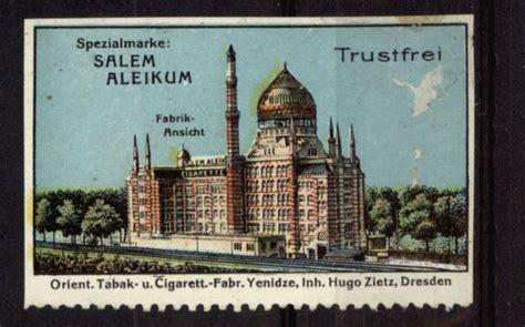 orient tabak zigaretten reklamemarke orient fabrik yenidze salem aleikum zigaretten tabak 1910 ebay