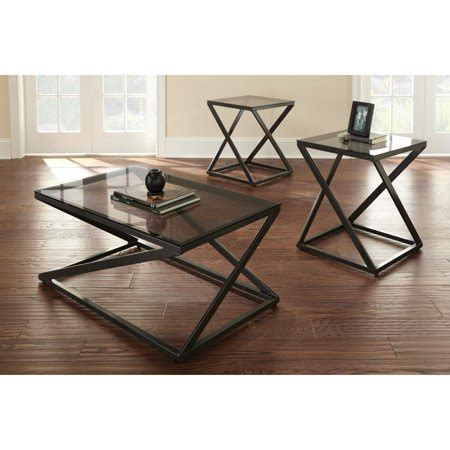 Choose from contactless same day delivery, drive up and more. Steve Silver Darius Black Metal and Glass Coffee Table Set - Walmart.com