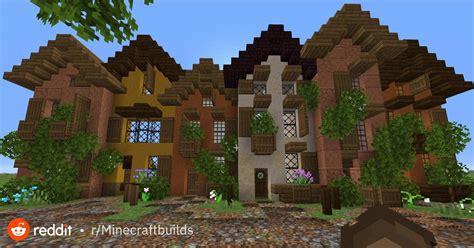 row  town houses inspired  copenhagen houses nyhavn minecraftbuilds minecraft medieval
