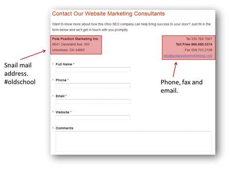 contact us page how to snag a sale from a simple contact us page search engine land