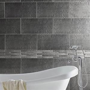 Carrelage sol et mur gris, Vestige l 30 x L 60 cm Leroy Merlin