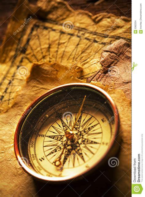 navigation compass stock photo image  tool brown view