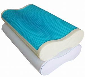 Abripedic dual contour gel memory foam pillow free shipping for Best soft memory foam pillow