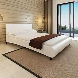 Lit En Cuir : la boutique en ligne lit en cuir artificiel blanc design courb 140 x 200 cm matelas ~ Teatrodelosmanantiales.com Idées de Décoration