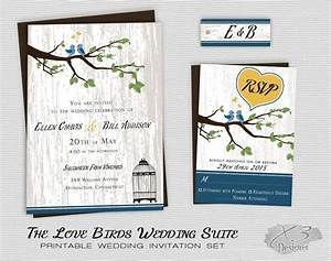 rustic country wedding invitation printable love birds With wedding invitations with trees and birds
