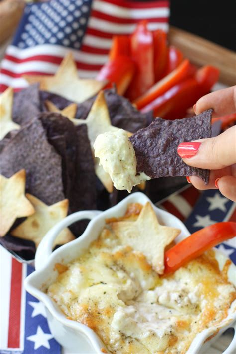 4th of july appetizers americana 4th of july appetizer recipe chips cheese dip pizzazzerie