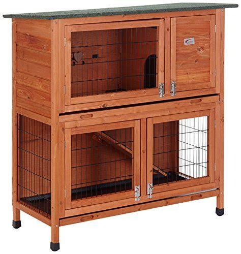 stall für kaninchen bunny business stall f 252 r kaninchen meerschweinchen 2 ebenen mit auslauf haustierzubeh 246 r24 de