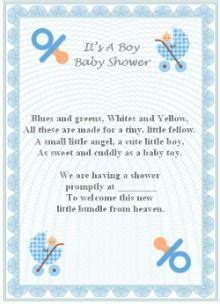 Baby Shower Wording Ideas For A Boy - baby boy poem ideas baby shower invitation baby boy