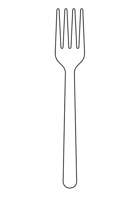 coloring page fork  printable coloring pages img