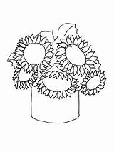 Sunflower Coloring Pages Flower Flowers Printable Recommended sketch template