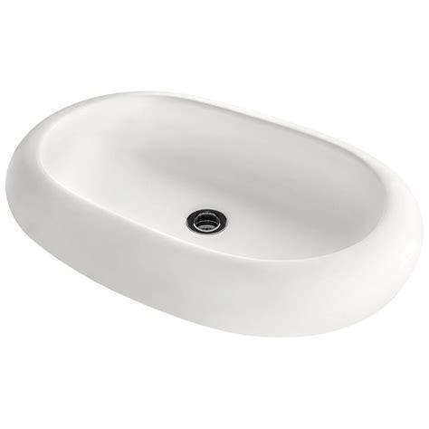 Porcelain Vessel Sink Home Depot by Polaris Sinks Porcelain Vessel Sink In Bisque P2031v B