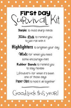 day survival kit   kays computer teachers