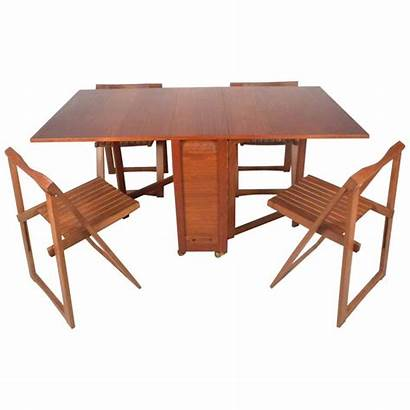 Leaf Drop Chairs Folding Table Modern Mid