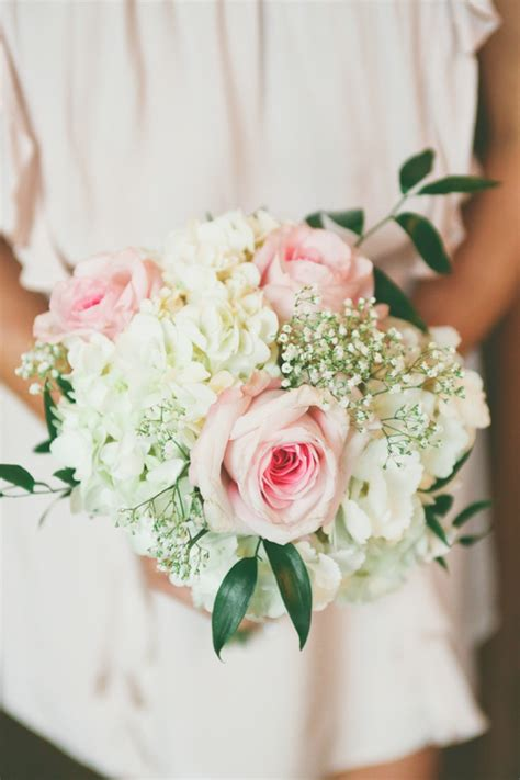 Vintage Rustic Pink And White Illinois Wedding Bouquets