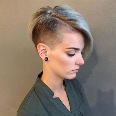 incredible side shaved hairstyles  women  naloaded