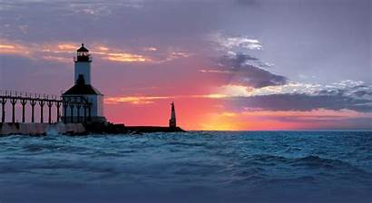 Michigan Lighthouse Place Camping Towns Memories Camp