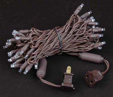 brown wire lights brown wire wide angle warm white 50 bulb led