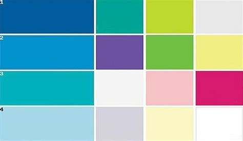 blue paint color and home furnishings matching colors for modern interior design and decor