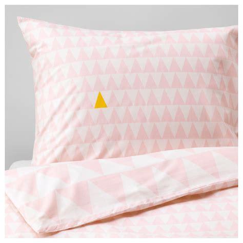 stillsamt quilt cover and pillowcase light pink 150x200 50x80 cm ikea