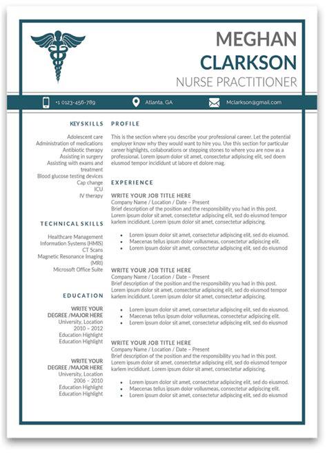 premium nurse practitioner resume templates sample