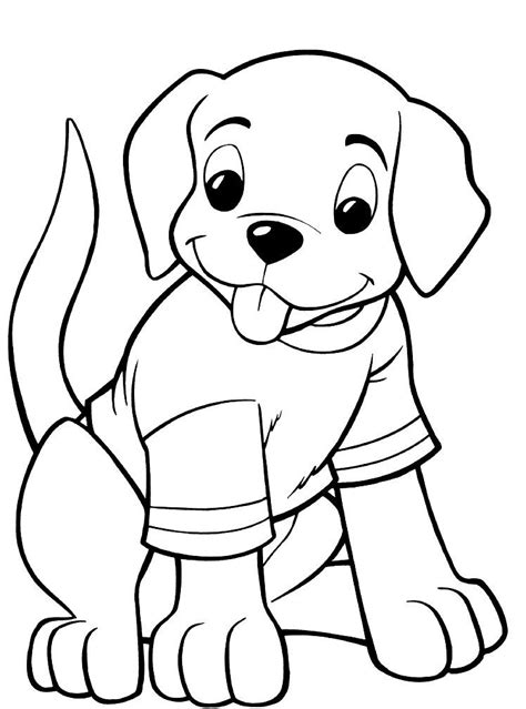 cute puppy coloring pages printable kids colouring dog
