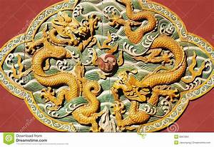 Chinese Ancient Statue With Dragon Figure Stock Images ...