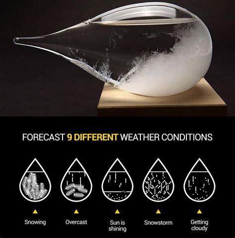 glass storm weather predicting glasses forecast globe crystal conditions gifts 2x sold