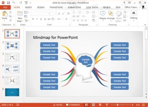Mind Map Template Powerpoint Free by Concept Map Templates For Powerpoint