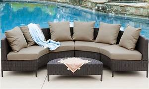 venice outdoor wicker sectional sofa 5 piece groupon With sectional sofa groupon