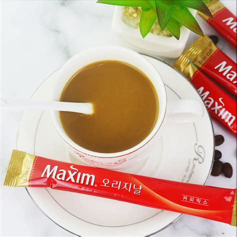 Maxim kanu mildroast sweet 30 stick we are selling a lot of products in korea market with wholesale price. USD 52.61 South Korea original imported maxim wheat coffee three-in-one instant coffee powder ...