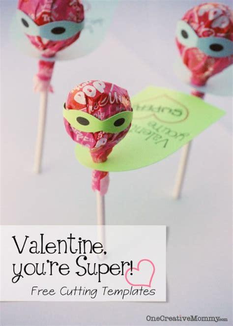 tootsie pop super valentines  cutting templates