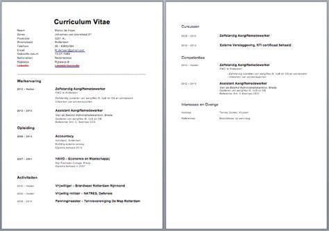 cv voorbeeld curriculum vitae  gratis cv templates