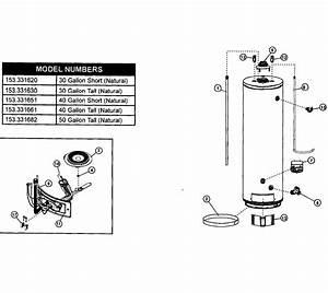 Kenmore Model 153331651 Water Heater  Gas Genuine Parts