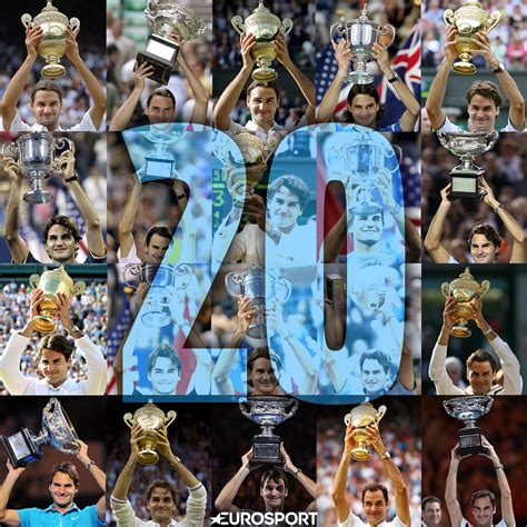 Roger Federers 20 Grand Slam Titles In Numbers
