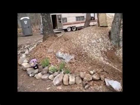 making   mulch  rock garden flower bed youtube