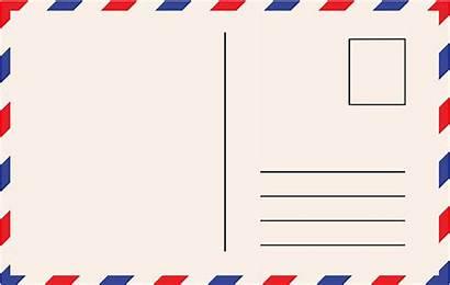 Postcard Vector Card Clip Template Postcards Illustration