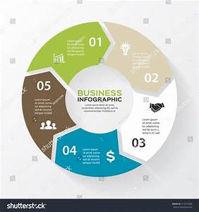 Vector Circle Arrows Infographic Template Diagram Stock