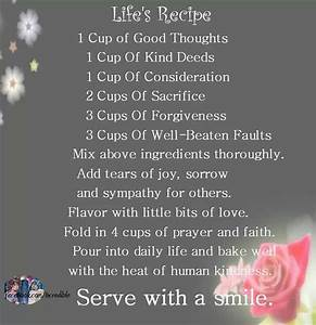 Quotes About Li... Recipe Life Quotes