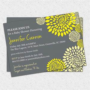 Baby Shower Invitations, Gender Neutral Boy or Girl Yellow ...