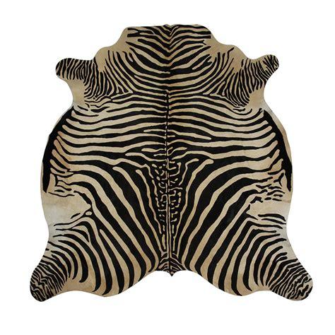 Zebra Hide Rugs by Amara Zebra Printed Cow Skin Rug Black Beige At Amara