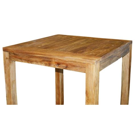 table haute en teck table haute en teck massif 80x80 cm tec3080