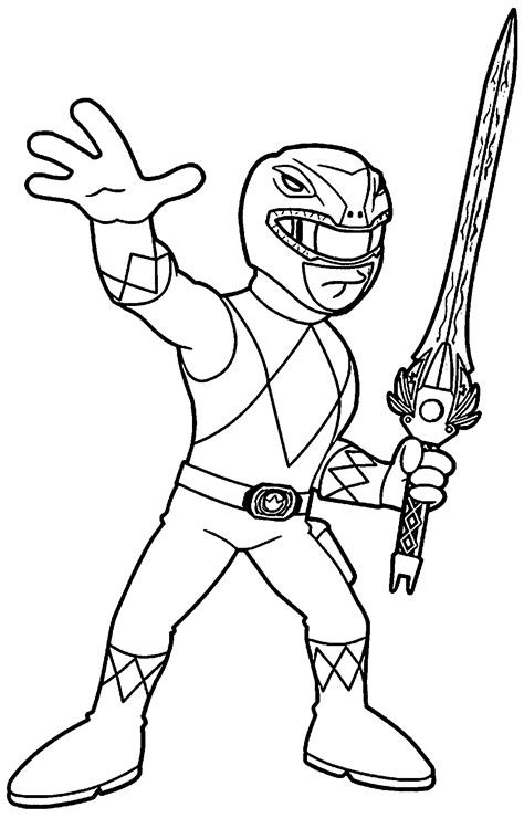 mmpr coloring pages coloring home