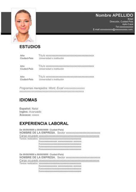 47 Modelos De Curriculum Vitae Para Descargar  Taringa. Exemple Curriculum Vitae Marocain. Letter Format Using Re. Objective For Resume General Examples. Curriculum Vitae Zidane. Cover Letter General Manager Hotel. Resume Sample Director Of Operations. Resume Vs Job Application. Ejemplos De Curriculum Vitae De Jardinero