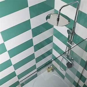 Carrelage Vert D Eau : carrelage mural vert d eau 20 x 50 cm mina castorama id es maison pinterest ~ Melissatoandfro.com Idées de Décoration