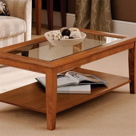 build glass top shadow box coffee table english
