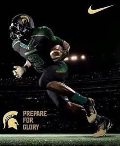 Michigan State Football Uniforms 2013